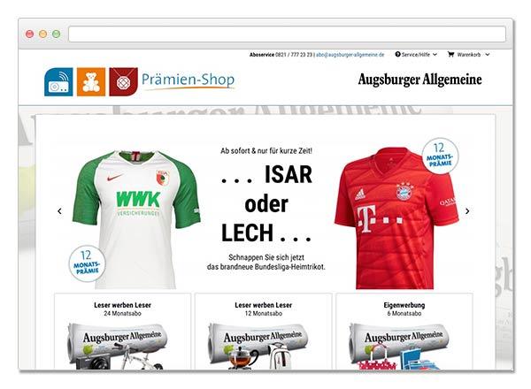 Shopware Prämienshop Augsburger Allgemeine